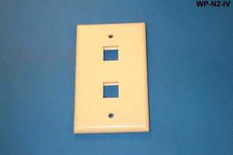 Liberty WP-N2-IV Standard Single Gang Wall Plate, Ivory