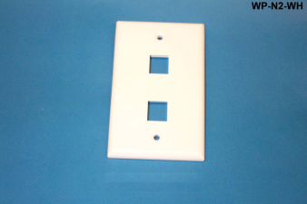 Liberty WP-N2-WH Standard Single Gang Wall Plate, White
