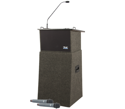 Anchor ACL-DP Acclaim Deluxe AC/DC Portable Lectern, Built-in Sound System