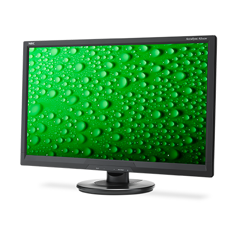 NEC AS242W-BK-R 24in LED-Backlit Widescreen Desktop Monitor, Refurbished