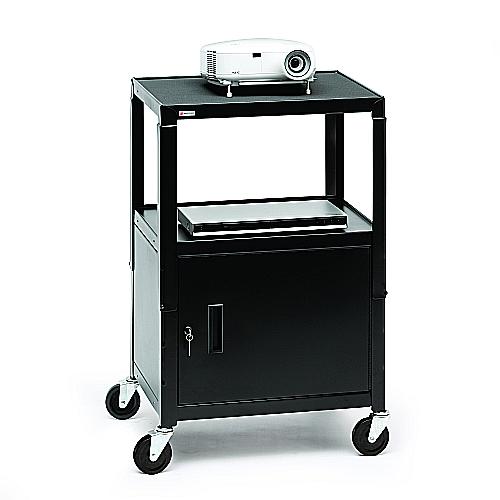 Bretford CA2642E AV Cabinet Cart Adj, 4in. Caster Incl Elec