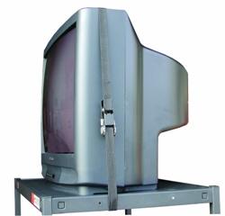Buhl 12' Nylon Ratcheting Safety Belt for A/V Media Carts