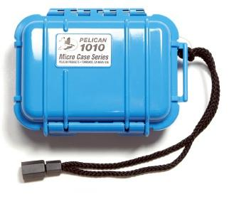 Pelican 1010 Watertight and Crushproof Micro Case- Solid Blue