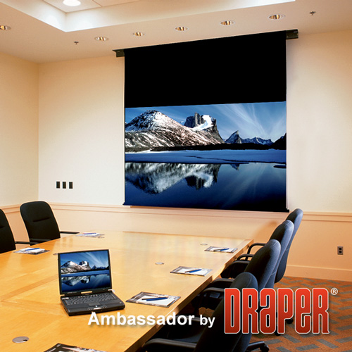 Draper 113032 Ambassador Motorized Front Projection Screen 72in x 96in
