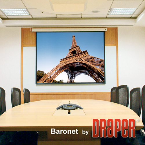 Draper 129112 Baronet Motorized Front Projection Screen 65in