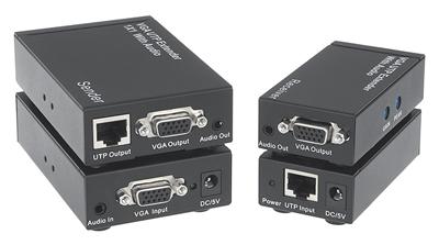 Comprehensive Single Source, Single Display VGA Extender over Cat5e