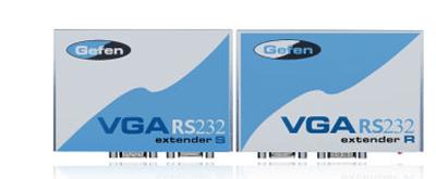 Gefen VGARS232-141 VGA Video & RS232 Serial Extender, Sender With Receiver