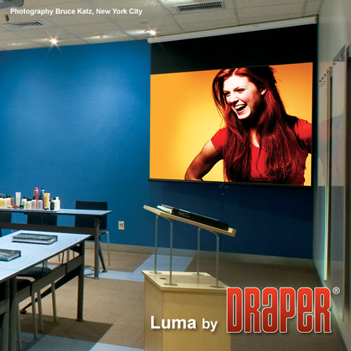 Draper 207146 Luma Manual Projection Screen w/ Auto Return 65in