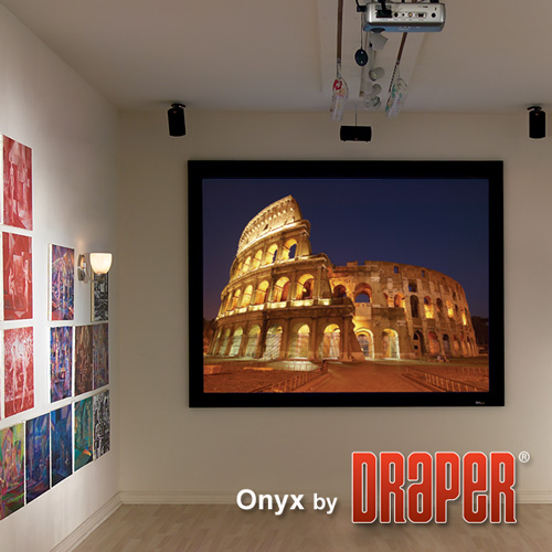 Draper 253273 Onyx Fixed Frame Projection Screen 100in