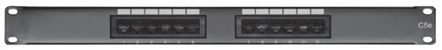 Comprehensive PP12P5E 12 port Cat5e patch panel