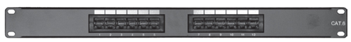 Comprehensive PP12P6 12 port Cat6 patch panel