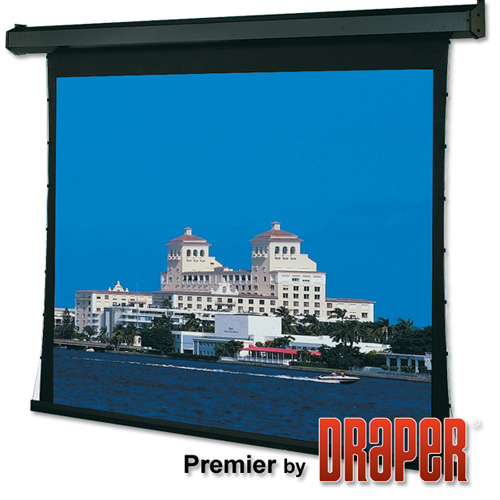 Draper 101331QLP Premier Motorized Front Screen 73in, Quiet LV PnP