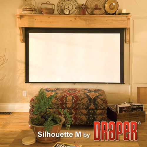 Draper 202279 Silhouette/M Projector Screen w/ Auto Return 72in x 96in