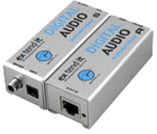 Gefen EXT-DIGAUD-141 Extends Digital S/PDIF or TOSlink audio up to 330 ft