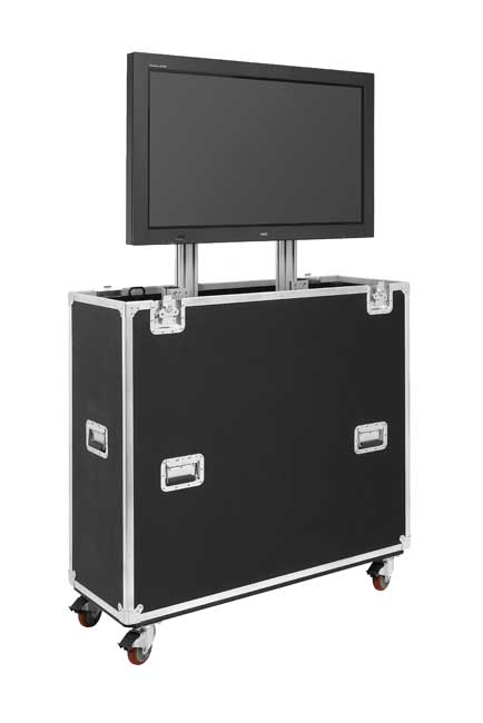 JELCO EL-60 EZ-LIFT Shipping and Display lift case for 60in. monitor