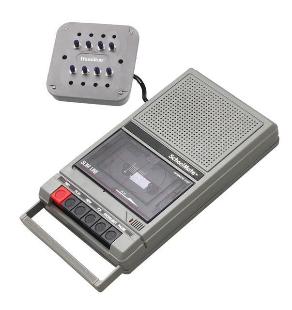 Hamilton HA802-8V HA-802-8V Classroom Cassette Player, 8 Position Jackbox