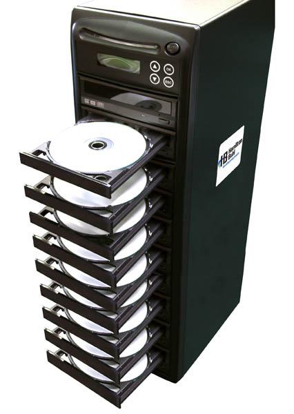 Hamilton HB129 1 Reader to 9 Writer DVD/CD Duplicator