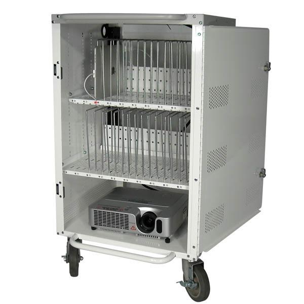 Buhl LTAB-30 30 Bay Tablet & iPad Charging & Storage Cart