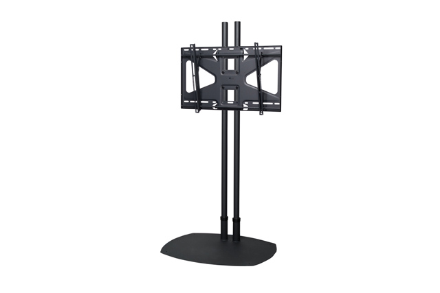 Premier Mounts TS72BMS2 Low-Profile Floor Stand w/ 72 in. Dual Poles