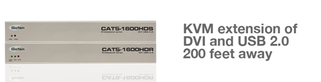 Gefen KVM/DVI-D/USB over Cat5/6 Extender - Up to 1920 x 1200 @ 60hz