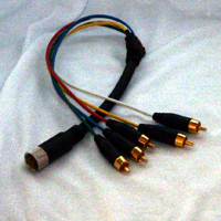 EZLINX 5 RCA male to 13-pin Male connector