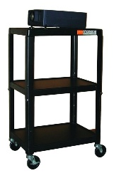 Hamilton Buhl A/V Cart w/ Adjustable Height 26 to 42in. - Steel
