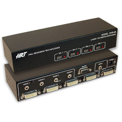 Hall Research - DVS-4A - 4-Port DVI Switch with Audio, Serial Control