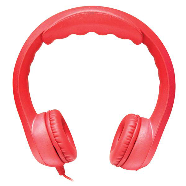 Hamilton KIDS-RED Flex-Phones, Foam Headphones, Red