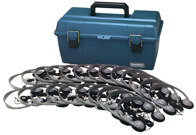 Hamilton LCP/24/MS2L Lab Pack 24 MS2L Personal Headphones in Carry Case