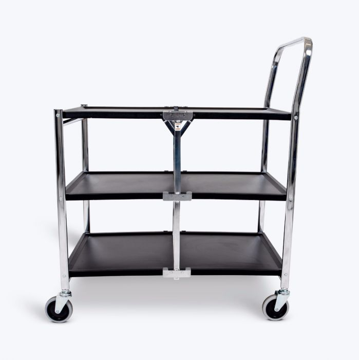 Luxor MSCC-3 Three-Shelf Collapsible Metal Utility Cart