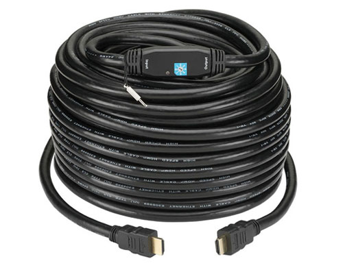 KanexPro HD100FTCL314 High-Resolution HDMI Cable with Signal Booster - 100ft