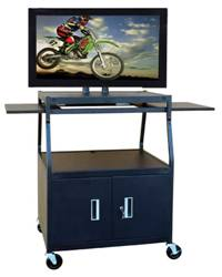 Buhl PLCAB44E Flat Panel AV Cart with Locking Cabinet