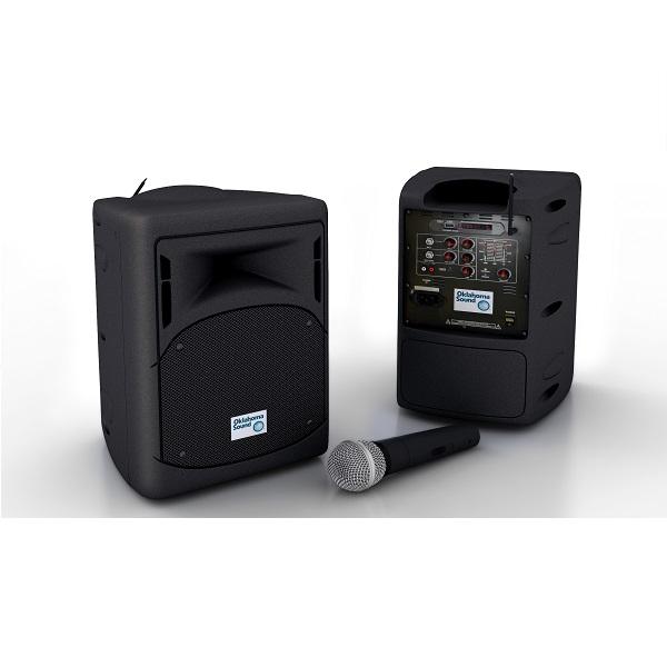 Oklahoma Sound PRA-8000 Pro Audio Portable PA System w/ Wireless Handheld Mic