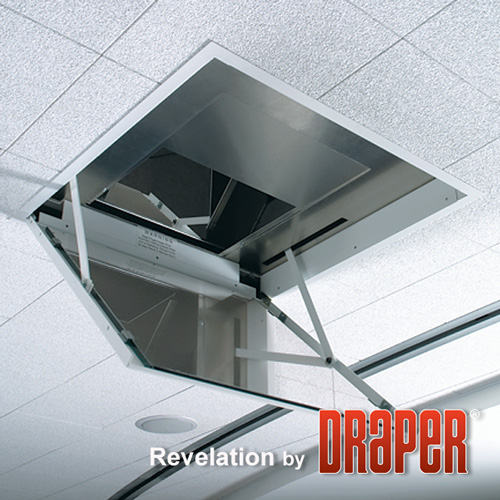 Draper Revelation B In-Ceiling Projector Mount, Plenum Cover