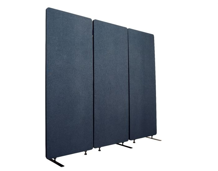 Luxor RCLM7266ZSB RECLAIM Acoustic Room Dividers - 3 Pack in Starlight Blue