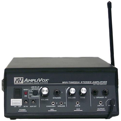 AmpliVox SW805A 50 Watt 16 Channel UHF Multimedia Stereo Amplifier