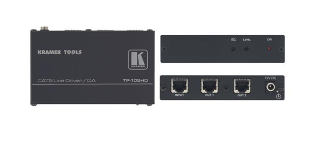 Kramer TP-105HD 1:2 Twisted Pair Line Driver & Distribution Amplifier