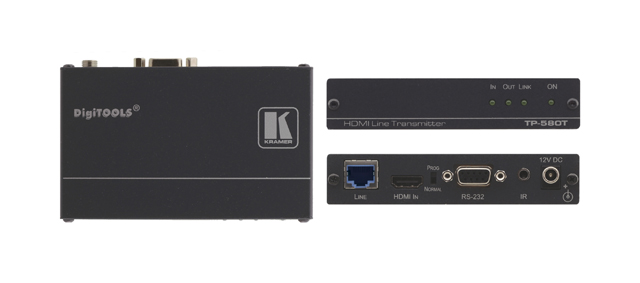 Kramer TP-580T 4K HDMI, RS-232 & IR over HDBaseT Twisted Pair Transmitter