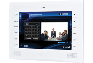 Crestron TPMC-9LW-T 9in Wall Mount Touch Screen, White Textured