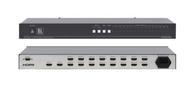 Kramer VM-216HDMI 2x1:16 HDMI Distribution Amplifier