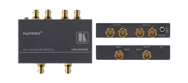Kramer VM-22HD 1:2 HD-SDI Dual-Mode Distribution Amplifier