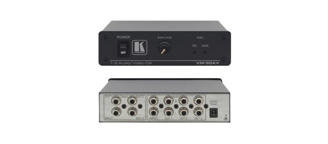 Kramer VM-30AV 1:3 Composite Video & Stereo Audio Distribution Amplifier