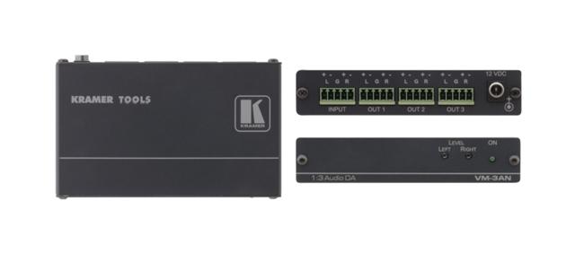 Kramer VM-3AN 1:3 Balanced Stereo Audio Distribution Amplifier