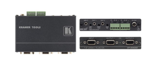 Kramer VP-200AK 1:2 Computer Graphics Video & Stereo Audio Distribution Amp