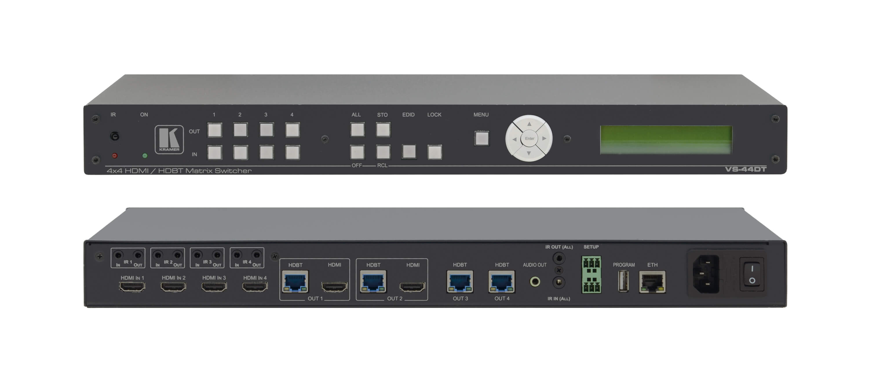 Kramer VS-44DT 4x4 4K60 4:2:0 HDMI/HDBaseT PoE Matrix Switcher